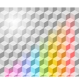 cubism background vector image vector image