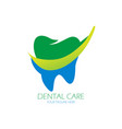 dental care logo design vector image vector image