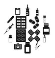 different drugs icons set simple style vector image