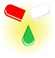 drugs drops from capsules of health for patients vector image
