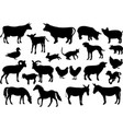 Farm animals silhouettes