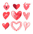 festive collection hearts vector image vector image