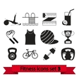 Fitness icon vector image vector image