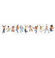 flat collection african american happy vector image