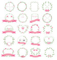 floral frame set for wedding flower shop vector image vector image