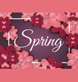 flowers paper spring banner cut out floral origami vector image
