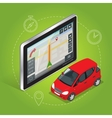 Geolocation gps navigation touch screen tablet vector image vector image