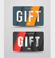 gift card template in the style of material design vector image vector image