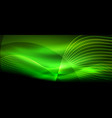 glowing abstract wave on dark shiny motion magic vector image vector image
