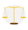 golden scales of justice sign of the court vector image