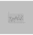 graphs computer symbol vector image