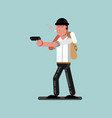 guy with gun is ready to shoot vector image