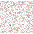 hand drawn seamless love pattern vector image