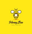 honey bee point vector image