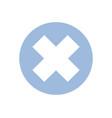 icon close button vector image
