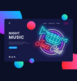 jazz club concept banner jazz music neon sign vector image vector image