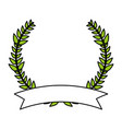 laurel wreath design vector image vector image