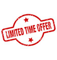 limited time offer stamp vector image vector image