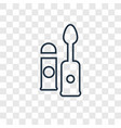 lip gloss concept linear icon isolated on vector image
