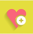 love flat icon design vector image