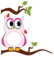 Love Owl vector image vector image