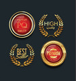 luxury golden design badges and labels collection vector image vector image