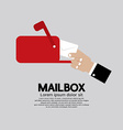Mailbox Side View vector image