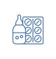 medicines line icon concept medicines flat vector image vector image