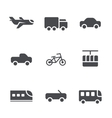 modes transport icons set vector image