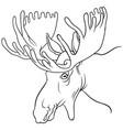 moose mascot vector image