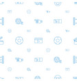 movie icons pattern seamless white background vector image vector image