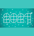 new year postcard 2021 vector image