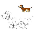 numbers game dog breeds dachshund vector image vector image