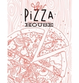 Poster pizza wood vector image vector image