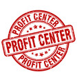 profit center red grunge stamp vector image vector image