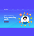 programmer flat design graphic vector image vector image