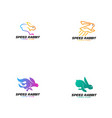 rabbit logo teplate animal logo concept vector image