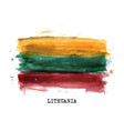 realistic watercolor painting flag lithuania vector image vector image