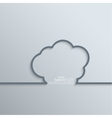 Ribbon as a cloud shadow and space for text vector image vector image