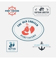 Seafood labels and design elements vector image vector image