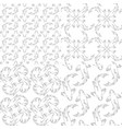 set seamless patterns with koi carp fish vector image