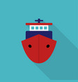 ship icon in flat style with shadow vector image
