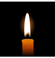 Single candle vector image