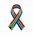 south african flag stripe ribbon on white