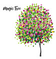 tree life magic tree stock colorful vector image