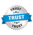 trust round isolated silver badge vector image vector image