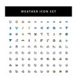 weather icon set with filled outline style design vector image vector image
