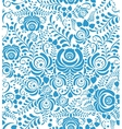 White and blue seamless pattern in Russian style vector image vector image