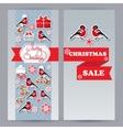 winter sale leaflets vector image vector image