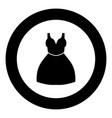 woman dress icon black color in circle vector image vector image